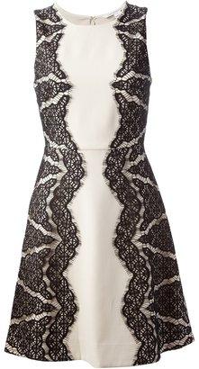 Diane von Furstenberg lace detail A-line dress