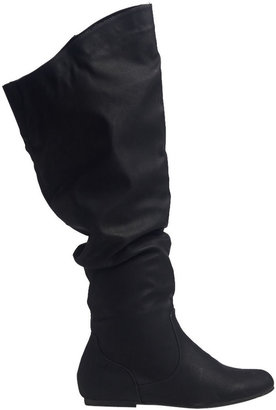 Wet Seal Faux Leather Slouch Boot (Wide Width)