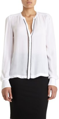 A.L.C. Contrast Trim Button Front Blouse Sale up to 60% off at Barneyswarehouse.com