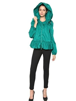 Moncler Ruffle Hooded Nylon Jacket