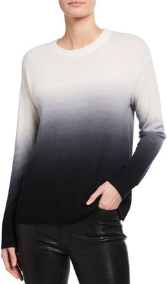 Alice + Olivia Gleeson Dip-Dye Cashmere Pullover Top