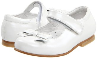 Kid Express Nona (Toddler/Youth) (White Leather) - Footwear