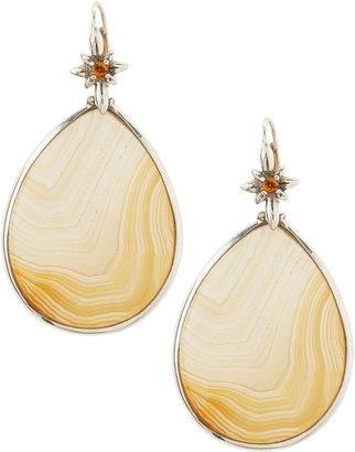 Stephen Dweck Natural Agate Teardrop Earrings