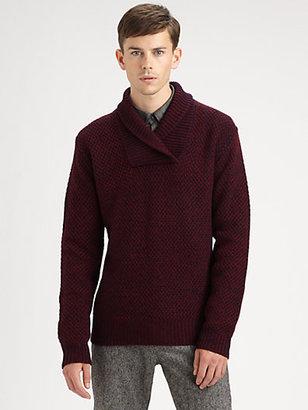 Burberry Shawl-Collar Sweater