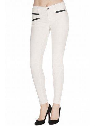 J Brand Zoey Mid-Rise Zipper Corduroy In Creamy White