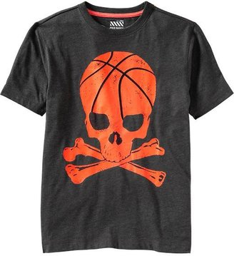 Old Navy Boys Sports-Skull Graphic Tees