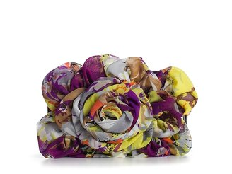 Townsend Lulu Flower Ruffle Box Clutch