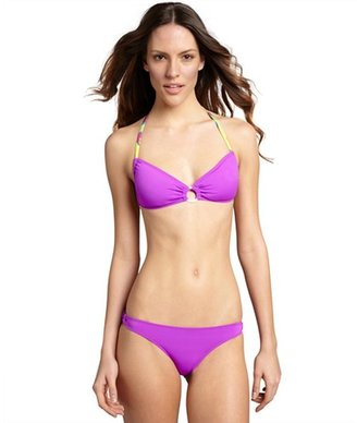 Dahlia Koral purple ring detailed 'Julia' hipster bottoms