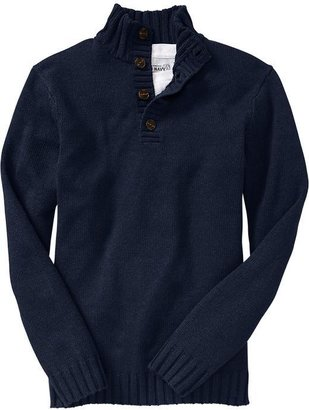 Old Navy Men's Button-Front Mock-Turtleneck Sweaters