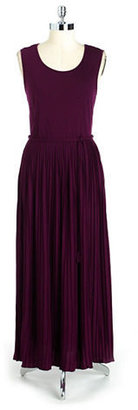 Lord & Taylor Petite Pleated Maxi Dress