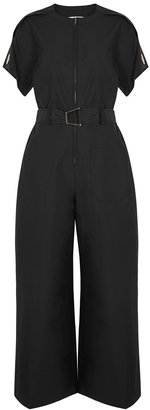 3.1 Phillip Lim Black Belted Cotton-blend Jumpsuit
