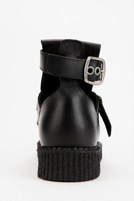 Underground Leather Snake Creeper Boot