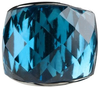 Steel by Design Bold Faceted Glass Ring