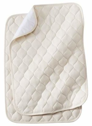 T.L.Care TL Care® Organic Cotton Waterproof Quilted Lap & Burp Pads - 2pk - Natural