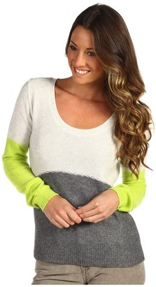 Free People Colorblock Pullover (Grey Heather Combo) - Apparel