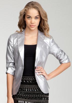 Bebe Metallic 3/4 Sleeve Abigail Blazer