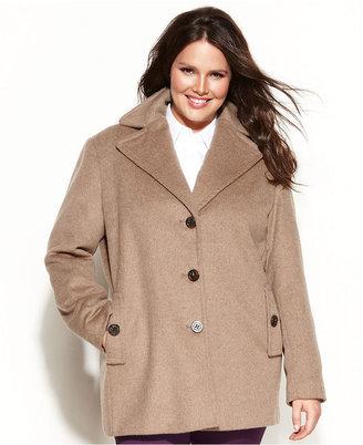 Calvin Klein Plus Size Wool-Blend Pea Coat