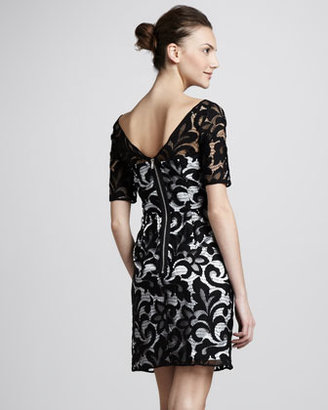 Milly Half-Sleeve Lace Dress