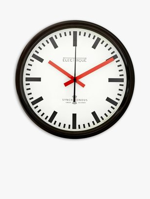 Lascelles Swiss Station Wall Clock, Dia.30cm, White