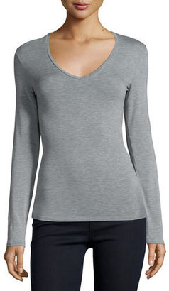 Majestic Paris for Neiman Marcus Soft Touch Long-Sleeve V-Neck Tee $125 thestylecure.com