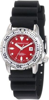 Momentum Women's 1M-DV83R1B Storm II Red Dial Hyper Natural Rubber Watch