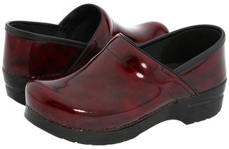 Dansko Professional Marbled Patent (Red Marbled Patent Leather) - Footwear