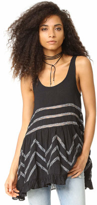 Free People Voile & Lace Trapeze Tank $88 thestylecure.com