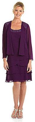 S.L. Fashions Soutache Jacket Dress