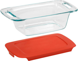 Pyrex Easy Grab 1-qt. Loaf Dish with Red Plastic Cover