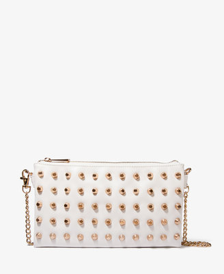 Forever 21 Heavy Metal Bolt Studded Clutch