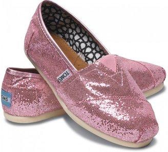 Toms Pink Women's Glitters