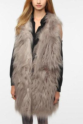 Sparkle & Fade Faux Fur Vest