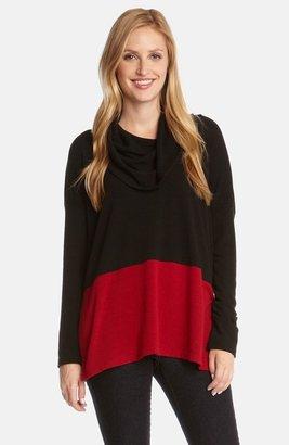 Karen Kane Colorblock Cowl Neck Pullover