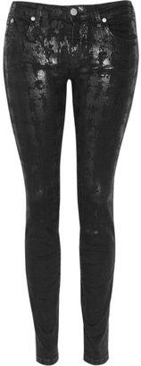 Karl Lagerfeld Blondie print mid-rise slim-leg jeans