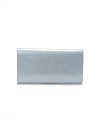 Louis Vuitton Pre-owned: light blue patent leather monogram continental wallet