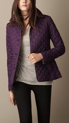 Burberry Cinched Waist Quilted Jacket