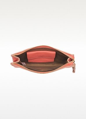 See by Chloe Peach Grainy Leather Zip Wallet