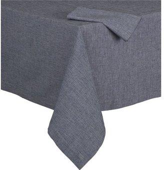 Crate & Barrel Murphy Blue Tablecloth.