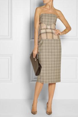Roksanda Ilincic Valdes plaid wool-blend dress