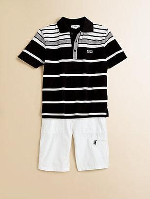 HUGO BOSS Little Boy's Striped Pique Polo