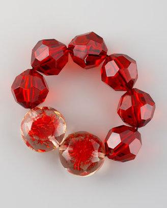 Marni Beaded Bracelet, Red