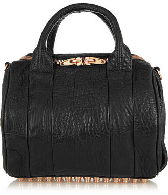Alexander Wang - Rockie Textured-leather Tote - Black $850 thestylecure.com
