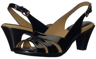 Comfortiva Neima - Soft Spots (Black Patent) Women's Dress Sandals