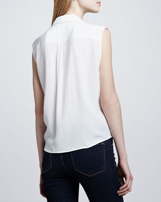 Equipment Diem Tie-Hem Blouse