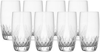 Mikasa Capella Set of 8 Crystal Highball Glasses