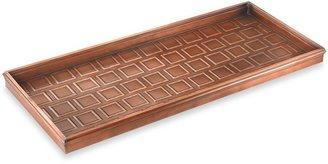 Bed Bath & Beyond Good Directions Squares Boot Tray in Venetian Bronze