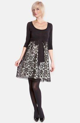 Olian Lace Skirt Maternity Dress
