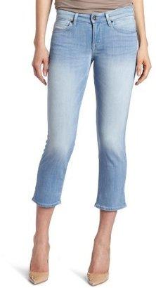 Rich & Skinny Women's Huntington Crop Jean with Contrast Pockets in Breeze