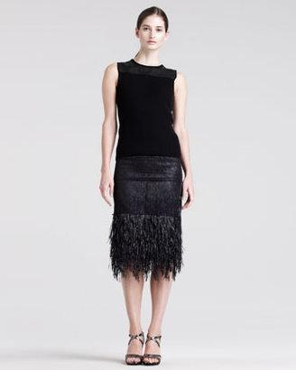 Reed Krakoff Mixed-Media Pencil Skirt