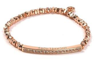 Michael Kors Rose Gold Beaded Pavé Bar Bracelet